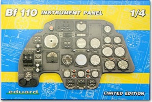 Messerchimdt bf110 C Instrument Panel 1/4 scale